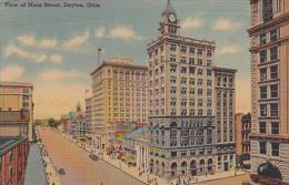 Ohio Dayton View Of Main Street 1943 Albertype