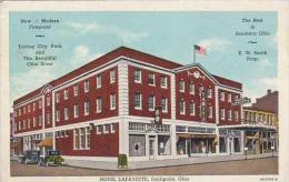 Ohio Gallipolis Hotel Lafayette 1945 Albertype
