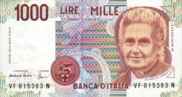 Italy 1000 Lire 1990 Pick 114 UNC - Ohne Zuordnung
