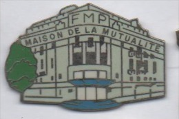 Beau pin�s en EGF , assurance mutuelle , Maison de la Mutualit� , FMP
