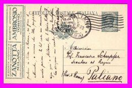 Regno 1919 - Intero Postale Pubblicitario Usato Zanotta Ambrosio - United States
