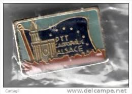 Pin�s - PTT Cartophilie Alsace - RARE