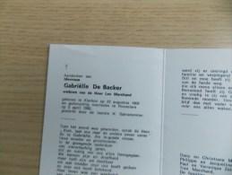 Doodsprentje Gabriëlle De Backer Klerken 23/8/1908 Roeselare 5/4/1992 ( Leo Marchand ) - Religion & Esotericism