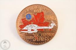 District 37 E Lions International - Ton Of Pennies For Stars - Volunteer - Pin Badge #PLS - Bomberos
