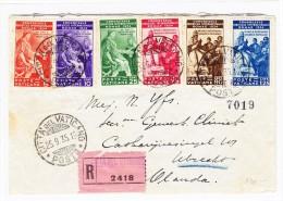 Vatikan - 25.9.1935.  R-Brief Citta Vaticano Nach Utrecht Holland - Vatican