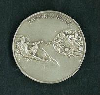 NUMISMATICA - RARA MEDAGLIA ORIGINALE DEI MUSEI VATICANI -  MICHELANGELO  - ARGENTO 1° EMISSIONE ANNO 1992 - LA GENESI - Altri