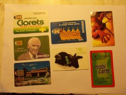 Joli Lot  7 Telecartes Cartes Telephone Mobicartes Differentes (4) - Télécartes