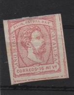 16mv. Rosa Cataluña ; Edifil No.157; Michel Carlista Nr.5, No Usado - Carlistas