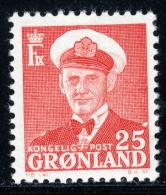GREENLAND - 1950 - Mi 32 - KING FREDERIK IX - MNH ** - Greenland