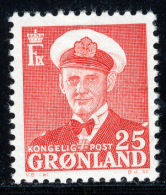 GREENLAND - 1950 - Mi 32 - KING FREDERIK IX - MNH ** - Groenlandia