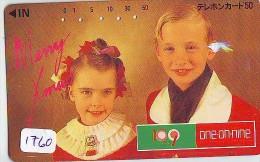 Télécarte  JAPON * NOËL  * MERRY CHRISTMAS * Phonecard JAPAN (1760) TK  WEIHNACHTEN  * KERST NAVIDAD - Kerstmis