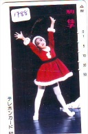 Télécarte  JAPON * NOËL  * MERRY CHRISTMAS * Phonecard JAPAN (1788) TK  WEIHNACHTEN * KERST NAVIDAD * FEMME - Kerstmis