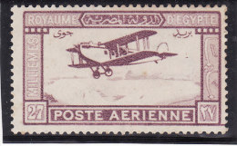 EGYPTE 1926-1929 - Poste Aérienne N° 1 - Neuf* Trace Charnière Légère (avion) 2 Scans - Poste Aérienne