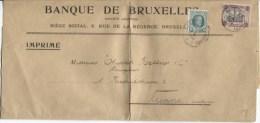TP 194-182 S/Manchon De La Banque De Bxl En 1924 Tarif Imprimé V.Vienne Autriche PR731 - Belgium