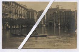 COMO - INIZI 900 - ALLUVIONE - CARTOLINA FOTOGRAFICA - TIMBRO A SECCO FOT. MONTORFANO - Inondazioni