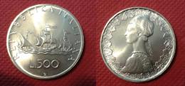 REPUBBLICA ITALIANA 500 LIRE CARAVELLE 1970 ARGENTO FDC - 1946-… : République