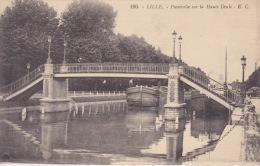 PASSERELLE SUR LA HAUTE DEULE  PENICHES - Lille