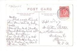 HAZEL GROVE POSTMARK  ON BRAMHALL LANE BRAMHALL NR STOCKPORT  CHESHIRE POSTCARD POSTAL HISTORY - England
