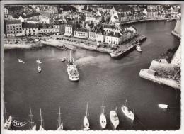 BELLE ILE EN MER 56 - Vue Aérienne : Le Port Du Palais - Jolie CPSM Dentelée Noir Et Blanc GF 1966 - Morbihan - Belle Ile En Mer