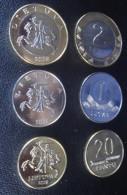 2008 LITHUANIA 20 Centu 1 ; 2 LITAI 2008 BIMETALLIC COIN Set UNC FROM Mint ROLL - Litouwen