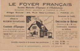 Paris 5ème  - Le Foyer  Français -  Rue Gay-Lussac  Carte Publicitaire - Arrondissement: 05