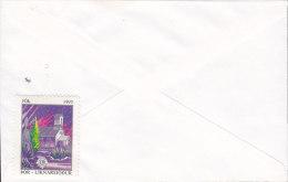 Iceland KEFLAVIK 1993 Cover Brief To Denmark LIONS CLUB Christmas Seal - 1993 Liknarsjódur (2 Scans) - 1944-... Republique