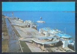 1585 RUSSIA 1981 ENTIER POSTCARD L 62314 (K150) Mint KUIBYSHEV SAMARA RIVER PORT SHIP SCHIFF BATEAU - 1923-1991 UdSSR