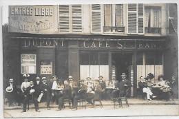 MELUN - Devanture De CAFE ST JEAN - CARTE PHOTO - Melun