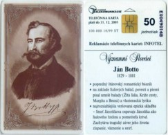 Telefonkarte Slowakei - Jan Botto - Aufl. 100000 - 10/99 - Slowakei