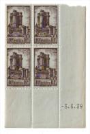 1938 - Coin Daté Neuf ** - N°393 Vincennes - Côte 20euros - 1930-1939