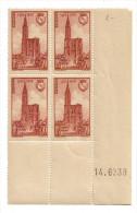 1939 - Coin Daté Neuf ** - N°443 Cathédrale De Strasbourg - Côte 12euros - 1930-1939