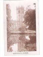 RP GAWSWORTH CHURCH POSTCARD Near Macclesfield CHESHIRE Unused - England