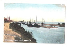 MANCHESTER SHIP CANAL EASTHAM PIER THE WIRRAL BOATS SHIPS UNUSED POSTCARD - England