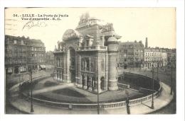Cp, 59, Lille, La Porte De Paris, Vue D'Ensemble, Voyagée 1929 - Lille