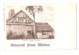 SINCEREST XMAS WISHES A RUSTIC COTTAGE WILMSLOW No.14 JONES STATIONER WILMSLOW UNUSED POSTCARD - England