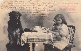 UN INVITÈ MAL ÈLEVÈ - Hübsches Kleines Weinendes Mädchen Und Hund, Gel.1903 - Humorvolle Karten