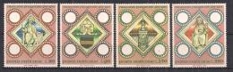 VATICANO     1973     MILLENARIO DELLA DIOCISI DI PRAGA       SASS. 544-547      MNH    XF - Nuovi