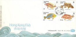 Hong Kong 1981 Hong Kong Fish FDC - Hong Kong (...-1997)