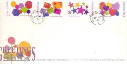Hong Kong 1992 Greetings FDC - Hong Kong (...-1997)