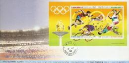 Hong Kong 1992 Olympic Games Souvenir Sheet FDC - Hong Kong (...-1997)