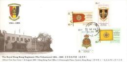 Hong Kong 1995 The Royal Hong Kong Regiment 1854-1995 FDC - Hong Kong (...-1997)