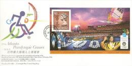 Hong Kong 1996 Atlanta Paralympic Games MS FDC - Hong Kong (...-1997)