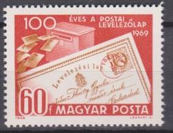 Hungary, Magyar Posta, 1969,  100 Years Postcards , MNH, *** - Post