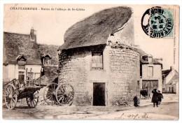 CPA 1904 ANIMEE CHATEAUROUX RUINES DE L'ABBAYE DE ST-GILDAS - Chateauroux