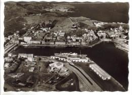CPSM PORT VENDRES (Pyrénées Orientales) - La France Vue Du Ciel.....les Quais Cie De Navigation Mixte Lignes Casa Oran A - Port Vendres