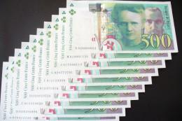 SUPERBE  500 FRS  MARIE CURIE    SPL/ NEUF  - 1994  LETTRE AUX CHOIX !!  - A SAISIR  -(achat Unitaire)- - 1992-2000 Ultima Gama