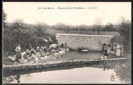 CPA Neuvy-deux-Clochers, Le Lavoir, Waschplatz Avec Frauen - Non Classés