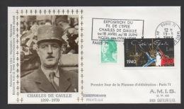 DF / CHARLES DE GAULLE / LETTRE / TP 2114 DE GAULLE / FLAMME EXPO DU FIL DE L' ÉPÉE 18 -4 83 / PORTRAIT DU GENERAL - De Gaulle (Général)