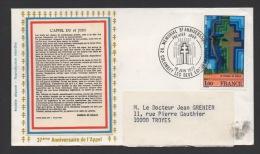 DF / CHARLES DE GAULLE / LETTRE / TP 1941  5eme ANNIV; MEMORIAL / OBL MEMORIAL 18 JUIN 1977 / TEXTE DE L' APPEL - De Gaulle (Général)