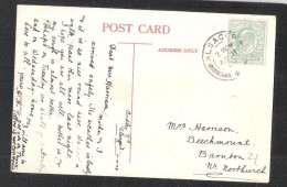 THE MERE ALSAGER CHESHIRE USED 1909 WITH ALSAGER POSTMARK POSTAL HISTORY DOUBLE RING POSTMARK - England